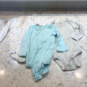 3 long sleeved onesies
